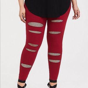 Nwt Torrid size 2 premium legging slash fishnet